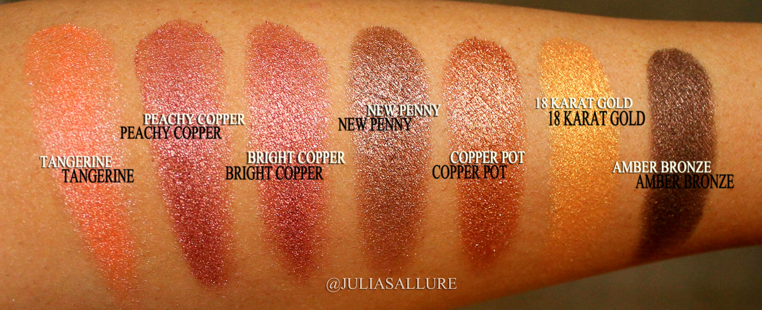 Coastal Scents Hot Pots Swatches Juliasallure