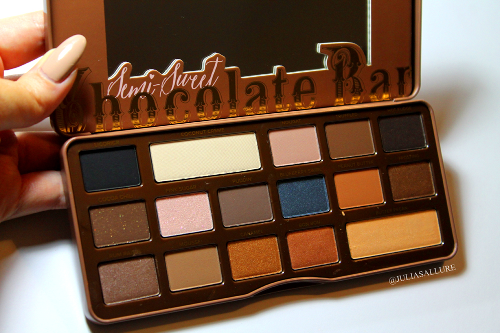 Too Faced Semi Sweet Chocolate Bar Palette Review And