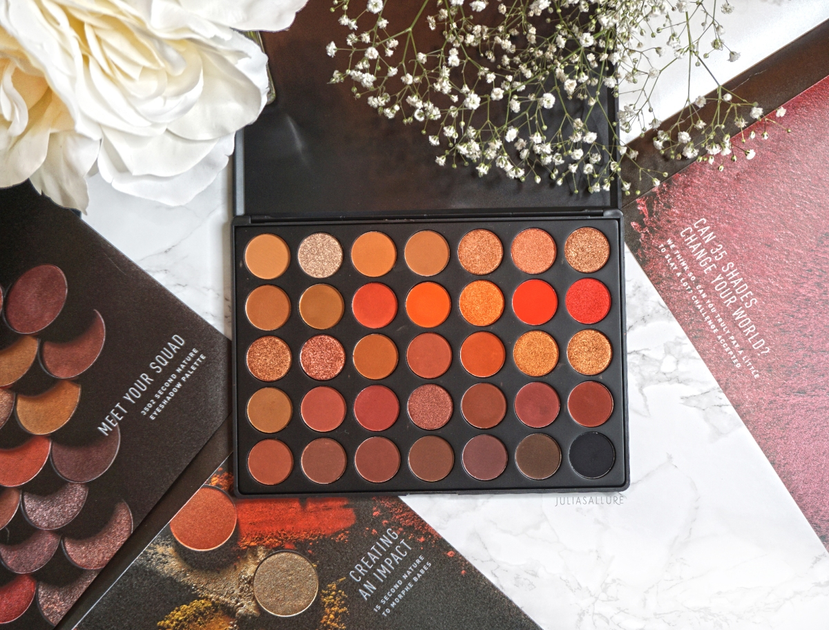 "MORPHE 35O2 ""SECOND NATURE EYESHADOW PALETTE"" (Swatch & Review)"